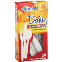 4142600048 Diamond Heavy-Duty Plastic Cutlery Set 4142600048, Heavy-Duty Plastic Cutlery Set
