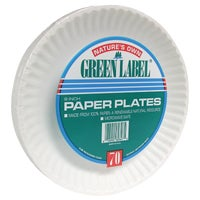 PP9GRAXWH AJM Natures Own Green Label Paper Plates paper plates