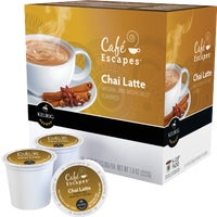 5000081832 Keurig Cafe Escapes Chai Latte Tea K-Cup Keurig Hot Tea K-Cup Pack