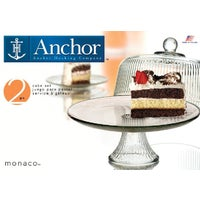 86031L6 Anchor Hocking Monaco Dome Cake Serving Tray Set 86031L6, Monaco Dome Cake Serving Tray Set