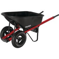 TS6-2W Truper Tru Tough Landscaper Dual Wheel Steel Wheelbarrow TS6-2W, TS6-2W Contractor Steel Wheelbarrow