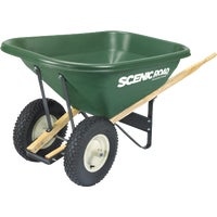 G8-2K Scenic Road Dual Wheel Heavy Duty Poly Wheelbarrow SL7-2K, SL7-2K Scenic Lane Dual Wheel Poly Wheelbarrow