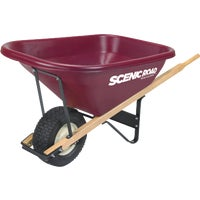 M8-1T Scenic Road Single Wheel Poly Wheelbarrow SRLJ-2K, SRLJ-2K Scenic Road Dual Wheel Poly Wheelbarrow