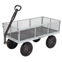 GOR1001 Gorilla Carts Steel Tow-Behind Garden Cart behind cart tow