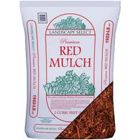 LS2DRED Landscape Select Premium Dyed & Shredded Hardwood Mulch LS2DRED, Landscape Select Red Shredded Mulch