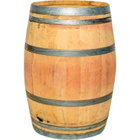 B120 Real Wood Products Oak Rain Barrel barrel rain