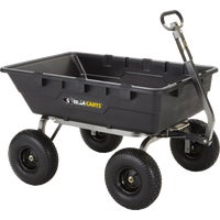 GOR10-16 Gorilla Carts Poly Tow-Behind Garden Cart behind cart tow