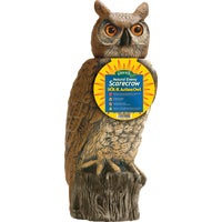 SRHO-4 Gardeneer Natural Enemy Scarecrow Solar Owl Pest Deterrent Decoy