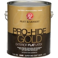 0000Z8400-16 Pratt & Lambert Pro-Hide Gold Latex Flat Exterior House Paint 0000Z8400-16, Pratt & Lambert Pro-Hide Gold Latex Flat Exterior House Paint