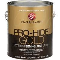0000Z8600-16 Pratt & Lambert Pro-Hide Gold Latex Semi-Gloss Exterior House Paint 0000Z8600-16, Pratt & Lambert Pro-Hide Gold Latex Semi-Gloss Exterior House Paint
