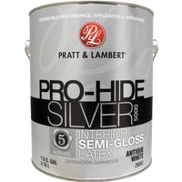 0000Z5552-16 Pratt & Lambert Pro-Hide Silver 5000 Latex Semi-Gloss Interior Wall Paint 0000Z5552-16, Pratt & Lambert Pro-Hide Silver 5000 Latex Semi-Gloss Interior Wall Paint