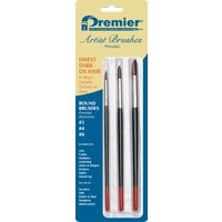 AR10107 Premier 3-Piece Dark Ox Hair Round Artist Brushes artist brush