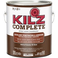 L101211 KILZ Complete Oil-Base Low VOC Interior/Exterior Sealer Stain Blocking Primer