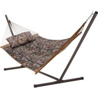 COMBORT15 Castaway RealTree Quilted Hammock With Pillow & Stand