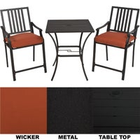 XD6308D13UO2G31CJ62 Nantucket 3-Piece Bistro Set bistro set