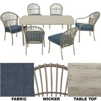 163-337-7D West Palm 7-Piece Dining Set dining palm set west