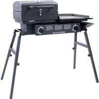 1555 Blackstone Tailgater Gas Griddle With Grill Box gas grill