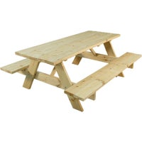 144242 Outdoor Essentials Untreated Picnic Table picnic table