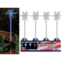 QLP228ABB Solaris Starburst Solar Stake Light Lawn Ornament QLP228ABB, Solaris Solar Starburst Stake Light Lawn Ornament