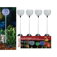 QLP448ABB Solaris Fiber Optic Solar Stake Light Solaris Solar Fiber Optic Flower Stake Light Lawn Ornament