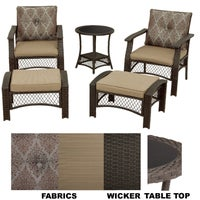 PC-1001 Geneva 5-Piece Wicker Chat Set chat set