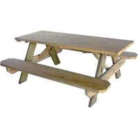 106116 Outdoor Essentials Pressure-Treated Wood Picnic Table picnic table