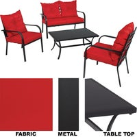 TJF-S007B Outdoor Expressions Apollo 4-Piece Chat Set chat set