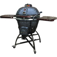 RLP-K17C1MSB-CS4 Vision Grills Large Plus Kamado Charcoal Grill charcoal grill