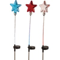 QLP1014ABB Alpine Solaris Patriotic Glass Star Solar Stake Light