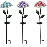 QLP792ABB-TM Alpine Solaris Hydrangea Solar Stake Light