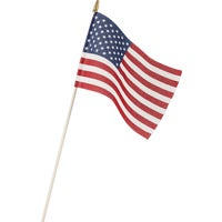 Valley Forge Stick American Flag USE8D, Cotton U.S.A. Hand Flag