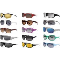 2500 Axiom SolarFlair Assorted Style Sunglasses 815620, Smart Savers Black & Brown Sunglasses