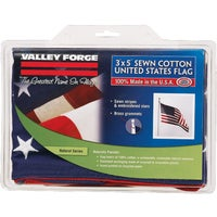 USB3 Valley Forge Natural Series Cotton American Flag USB3, Valley Forge 3 x 5 Cotton U.S.A. Flag