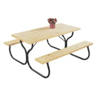 FC-30 Jack Post Fiesta Charm Picnic Table - Frame Only picnic table