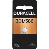 Duracell 301/386 Silver Oxide Button Cell Battery 66127, 66127 Duracell Silver Oxide Coin Watch Battery