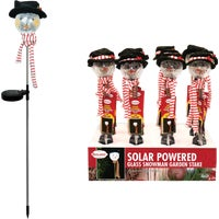 SLL888BB-12 Solaris LED Snowman Holiday Garden Stake