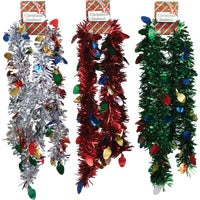 66J-DIBB F C Young Die-Cut Jumbo Colored Garland With Bulbs Assortment colored garland