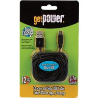 GP-XL-USB-M Aries 12 Ft. Micro Charging Cable GP-XL-USB-M, Aries 12 Micro Charging Cable
