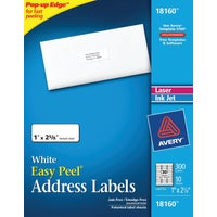 18160 Avery Products Inkjet White Mailing Labels labels mailing