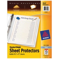 75540 Avery Products Standard Weight Sheet Protector