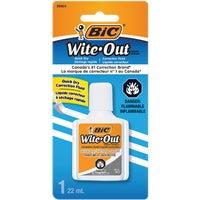 WOFQDP1WHI Bic Wite-Out Plus Correction Fluid correction fluid out plus wite