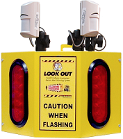 Look Out 3 Floor Burst - Rack Mount - Collision Awareness Look Out 3 R B, Collision Awareness, Collision Safety, Safety Products, Forklift Safety, Warehouse Safety, Collision Awareness, Dock Safety, Dock Awareness, Hall Collision, Office Collision