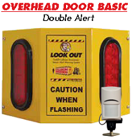 Overhead Door Basic Double - Collision Awareness Overhead Door Basic Double, Collision Awareness, Collision Safety, Safety Products, Forklift Safety, Warehouse Safety, Collision Awareness, Dock Safety, Dock Awareness, Hall Collision, Office Collision, Door Monitor