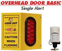 Overhead Door Basic Single - Collision Awareness Overhead Door Basic Single, Collision Awareness, Collision Safety, Safety Products, Forklift Safety, Warehouse Safety, Collision Awareness, Dock Safety, Dock Awareness, Hall Collision, Office Collision, Door Monitor