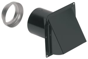 Round Wall Cap For 3 & 4 in. Duct Black Steel