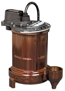 1-1/2 in. 1/3HP 115V Cast Iron Automatic Effluent Submersible Pump