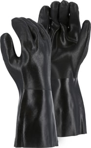 14 In. PVC Gloves With Tag Large In Black