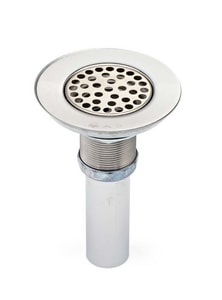 Wide Top Strainer with Tailpiece and Zinc Nuts Chrome