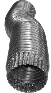 4 in. x 8 ft. Aluminum Semi-Rigid Flexible Air Duct