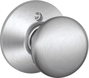 Stainless Steel and Brass Dummy Door Knob in Satin Chrome